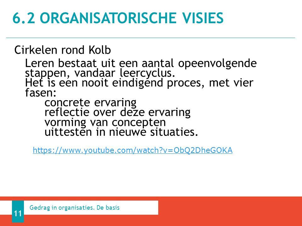 Cirkelen rond Kolb Leren bestaat uit een aantal opeenvolgende stappen, vandaar leercyclus.