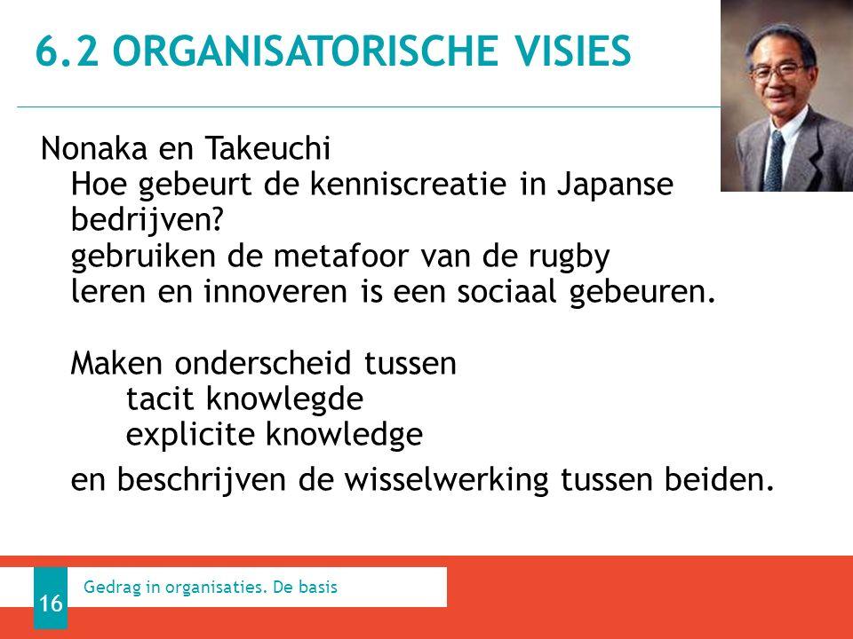 Nonaka en Takeuchi Hoe gebeurt de kenniscreatie in Japanse bedrijven? gebruiken de metafoor van de rugby leren en innoveren is een sociaal gebeuren. M