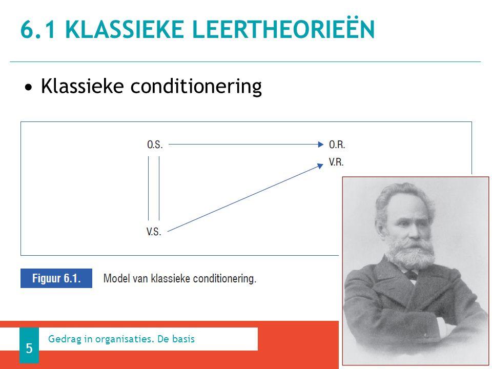 Klassieke conditionering 6.1 KLASSIEKE LEERTHEORIEËN 5 Gedrag in organisaties. De basis