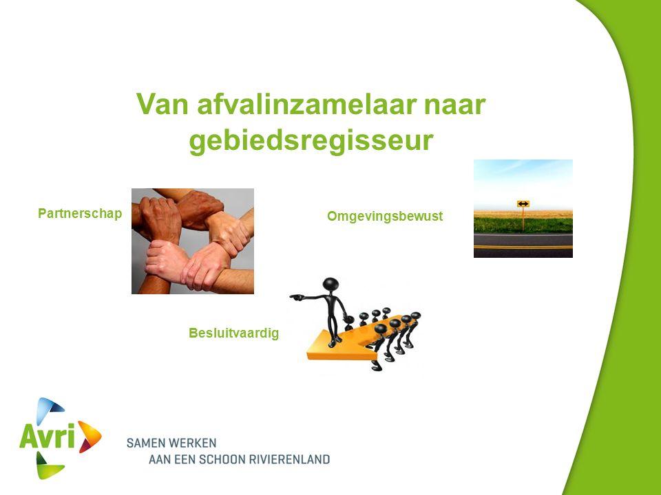 Van afvalinzamelaar naar gebiedsregisseur Partnerschap Omgevingsbewust Besluitvaardig