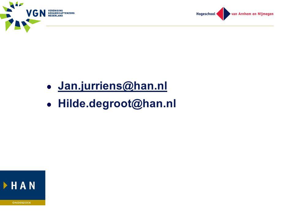 Jan.jurriens@han.nl Hilde.degroot@han.nl