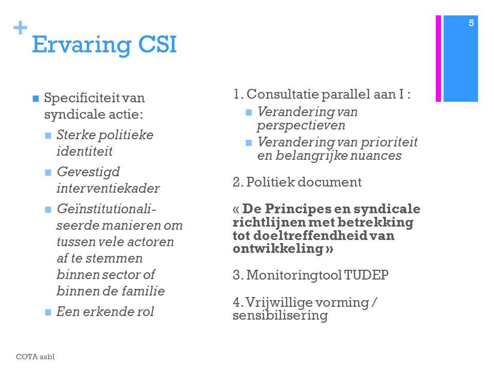 + Ervaring CSI 1.