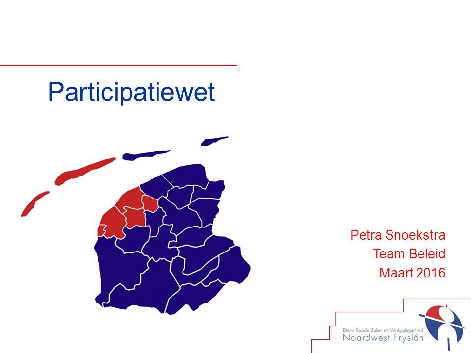 Participatiewet Petra Snoekstra Team Beleid Maart 2016