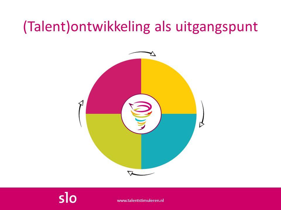(Talent)ontwikkeling als uitgangspunt www.talentstimuleren.nl