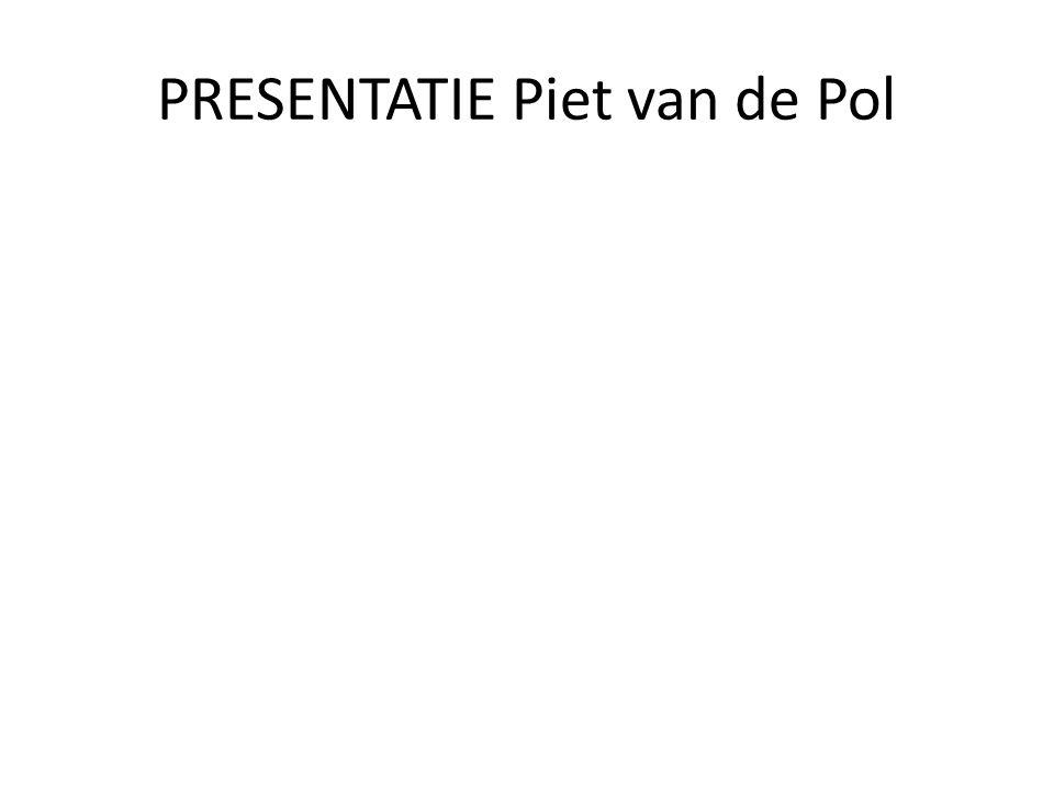 PRESENTATIE Piet van de Pol