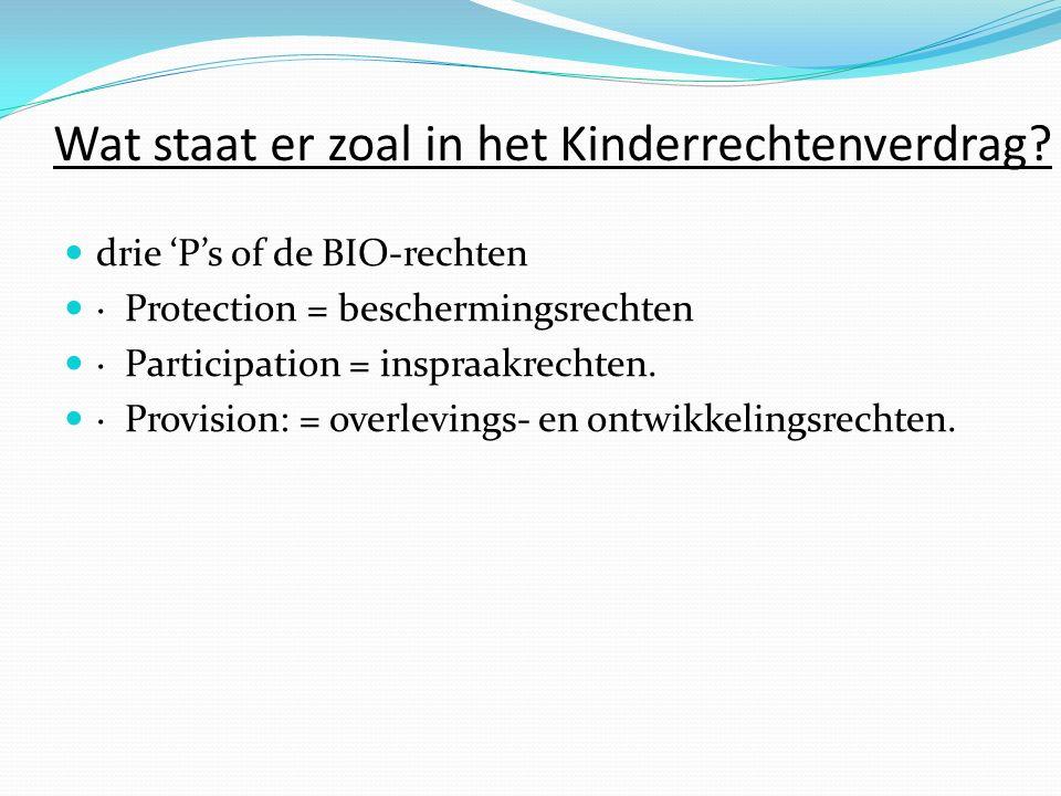 Wat staat er zoal in het Kinderrechtenverdrag.