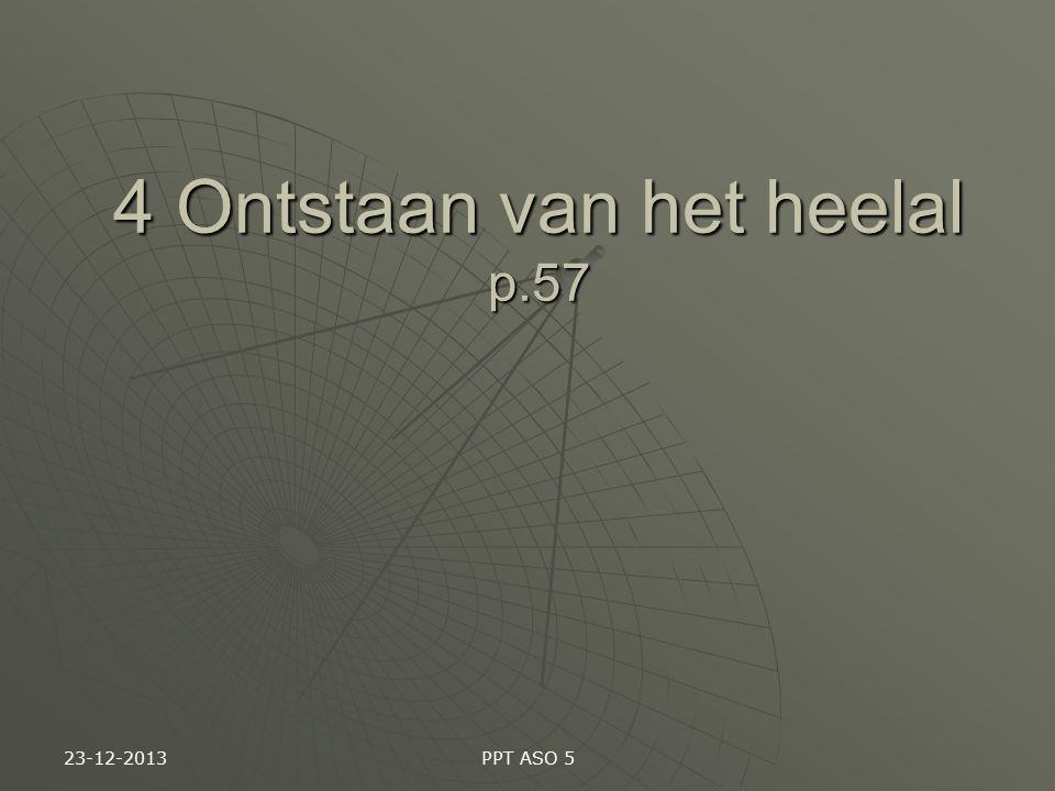 23-12-2013 PPT ASO 5 4 Ontstaan van het heelal p.57
