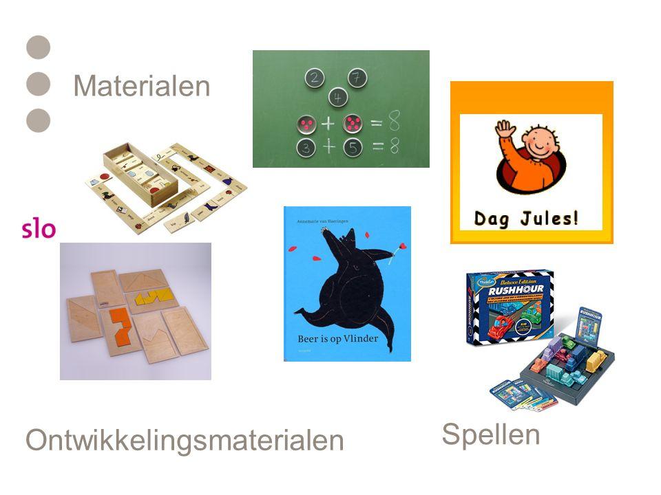 Materialen Spellen Ontwikkelingsmaterialen