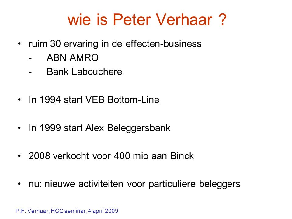wie is Peter Verhaar .