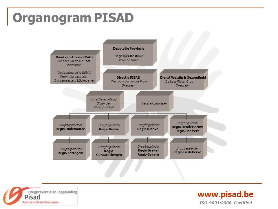 ISO 9001:2008 Certified www.pisad.be Organogram PISAD