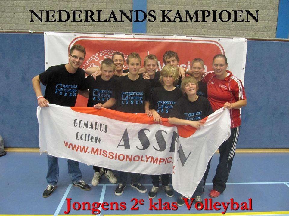 NEDERLANDS KAMPIOEN Jongens 2 e klas Volleybal