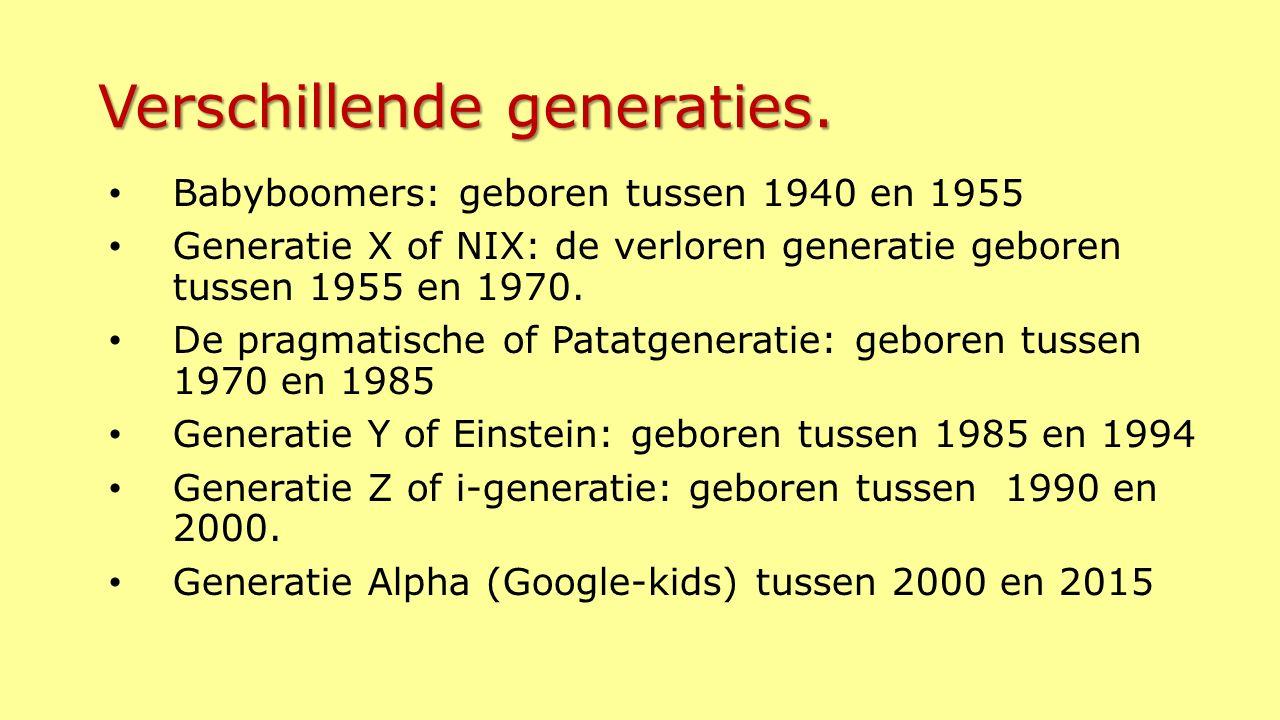 Verschillende generaties.