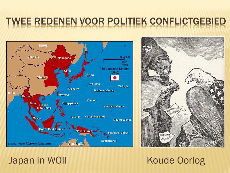  Eerte Indochinese Oorlog 1947-1954  Frankrijk wordt verslagen en Vietnam wordt onafhankelijk in 1954  Vietnamoorlog 1955-1970  Amerika probeert te voorkomen dat Zuid-Vietnam communistisch wordt  Ook Laos en Cambodja (bombardementen en burgeroorlogen)  Cambodiaans-Vietnamese oorlog 1975-1979  Vietnam valt Cambodja binnen en verdrijft de Rode Khmer