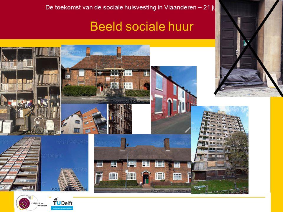 De toekomst van de sociale huisvesting in Vlaanderen – 21 juni 2007 Eigendomsverhoudingen op de woningmarkt bron: Norris & Shiels, 2004