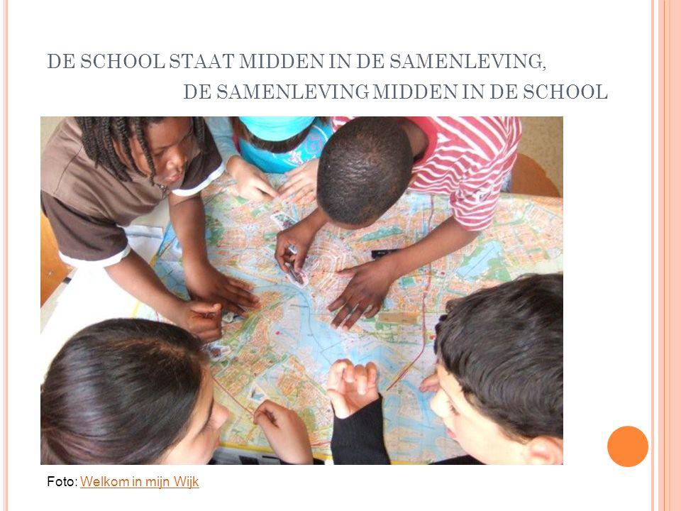 DE SCHOOL STAAT MIDDEN IN DE SAMENLEVING, DE SAMENLEVING MIDDEN IN DE SCHOOL Foto: Welkom in mijn WijkWelkom in mijn Wijk