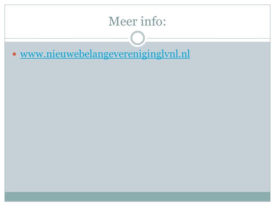 Meer info: www.nieuwebelangevereniginglvnl.nl