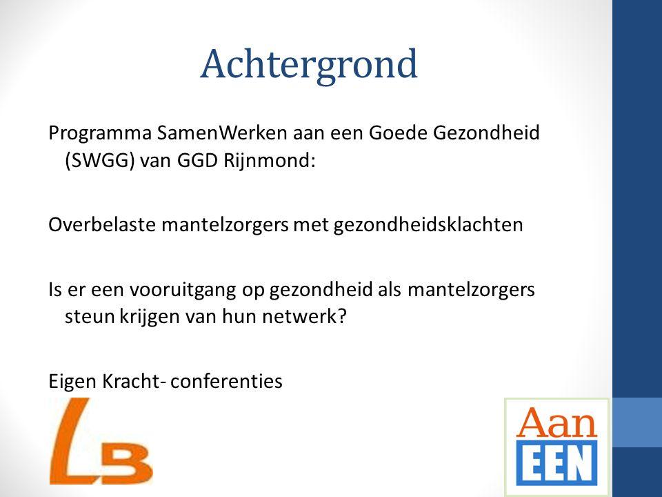 Achtergrond Programma SamenWerken aan een Goede Gezondheid (SWGG) van GGD Rijnmond: Overbelaste mantelzorgers met gezondheidsklachten Is er een voorui