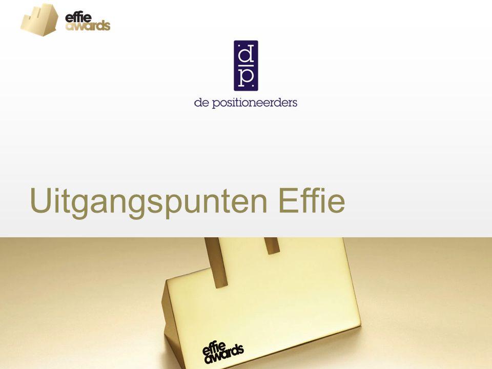 Uitgangspunten Effie