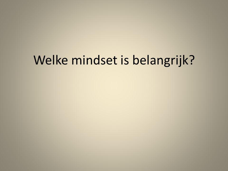 Welke mindset is belangrijk?