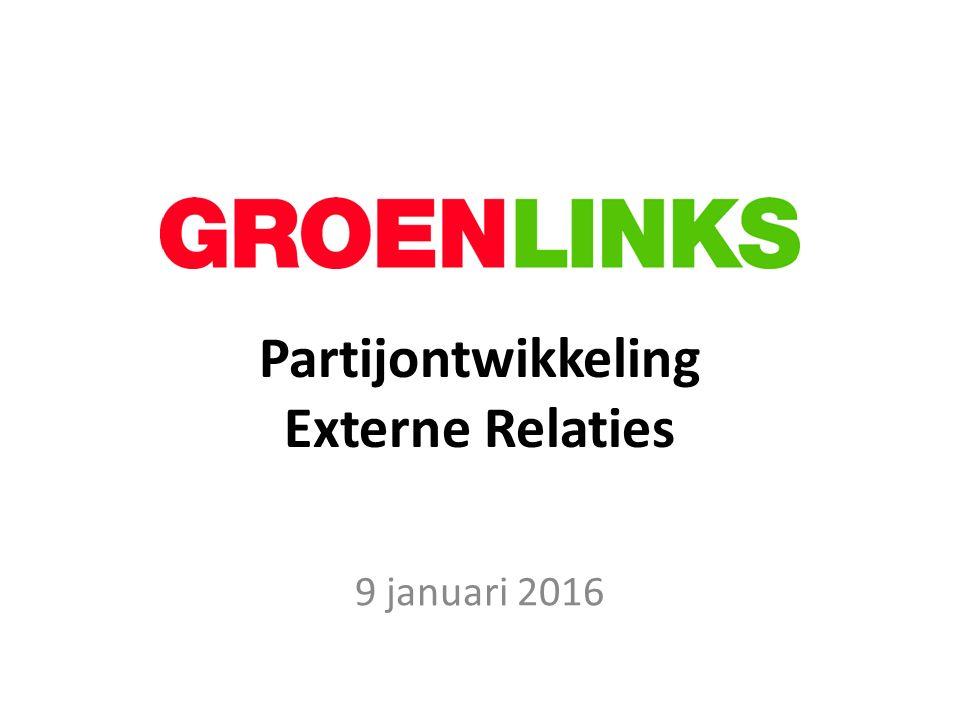 Partijontwikkeling Externe Relaties 9 januari 2016