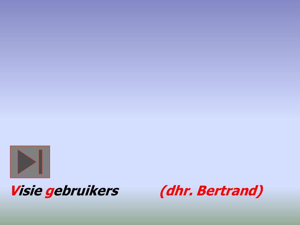 Visie gebruikers (dhr. Bertrand)
