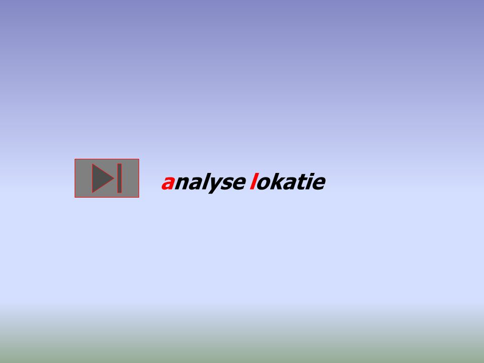 analyse lokatie