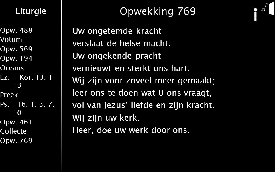 Liturgie Opw.488 Votum Opw.569 Opw.194 Oceans Lz.1 Kor.