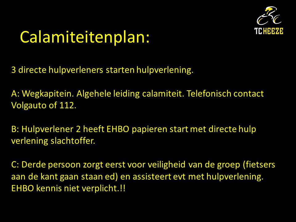 Calamiteitenplan: 3 directe hulpverleners starten hulpverlening.