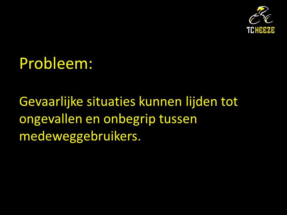 Probleem: Gevaarlijke situaties kunnen lijden tot ongevallen en onbegrip tussen medeweggebruikers.