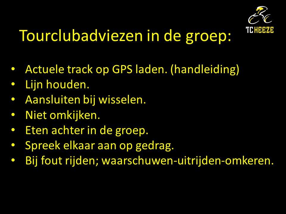 Tourclubadviezen in de groep: Actuele track op GPS laden.
