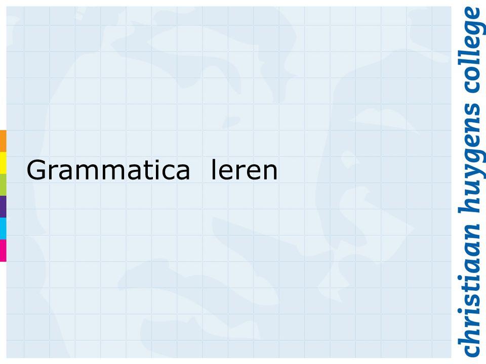 Grammatica leren