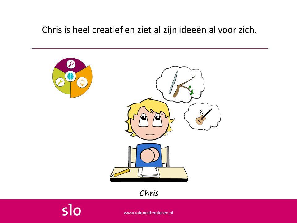 Chris is heel creatief en ziet al zijn ideeën al voor zich. www.talentstimuleren.nl
