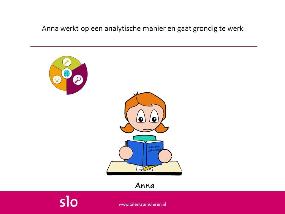 Anna werkt op een analytische manier en gaat grondig te werk www.talentstimuleren.nl
