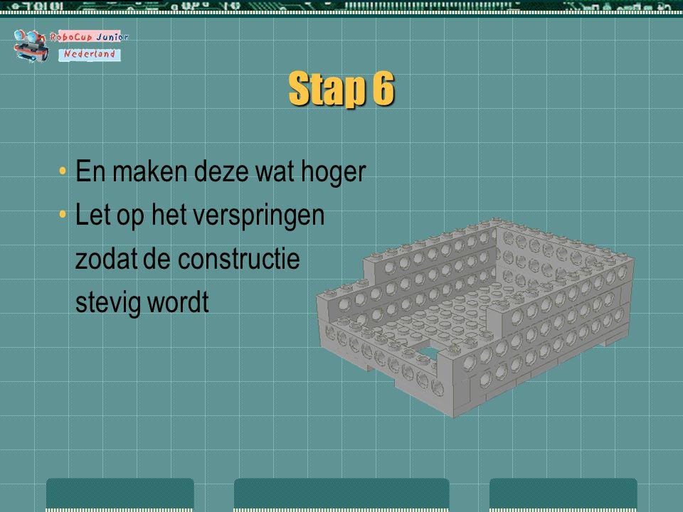 Stap 42 En we maken van twee identieke balkjes een tuimelaar, die vrij kan bewegen in het busje.