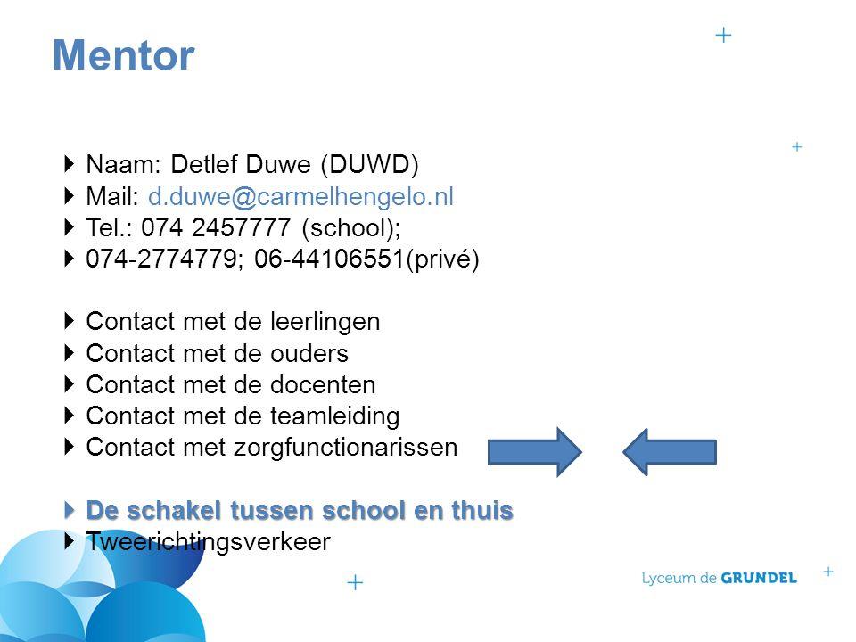  Naam: Detlef Duwe (DUWD)  Mail: d.duwe@carmelhengelo.nl  Tel.: 074 2457777 (school);  074-2774779; 06-44106551(privé)  Contact met de leerlingen