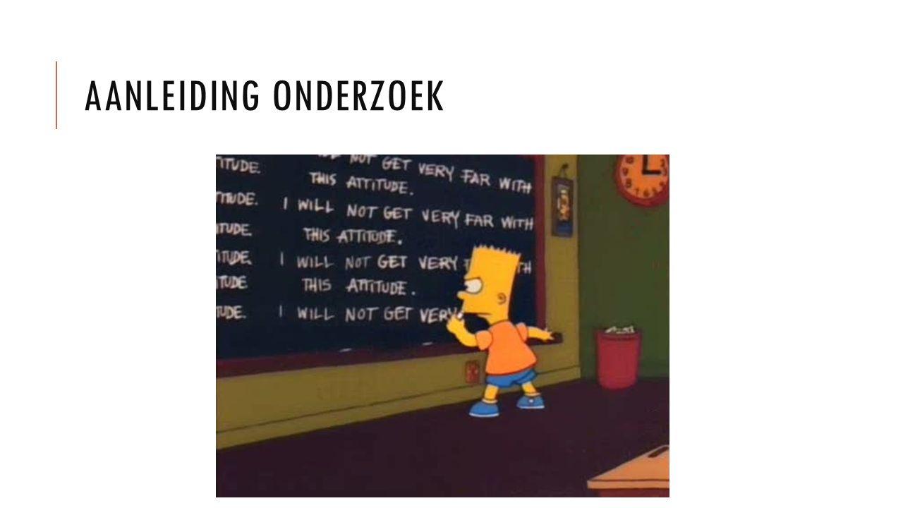 AANLEIDING ONDERZOEK