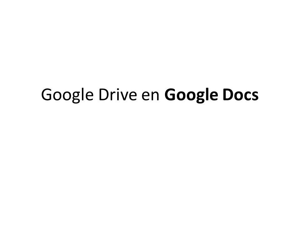 Google Drive en Google Docs