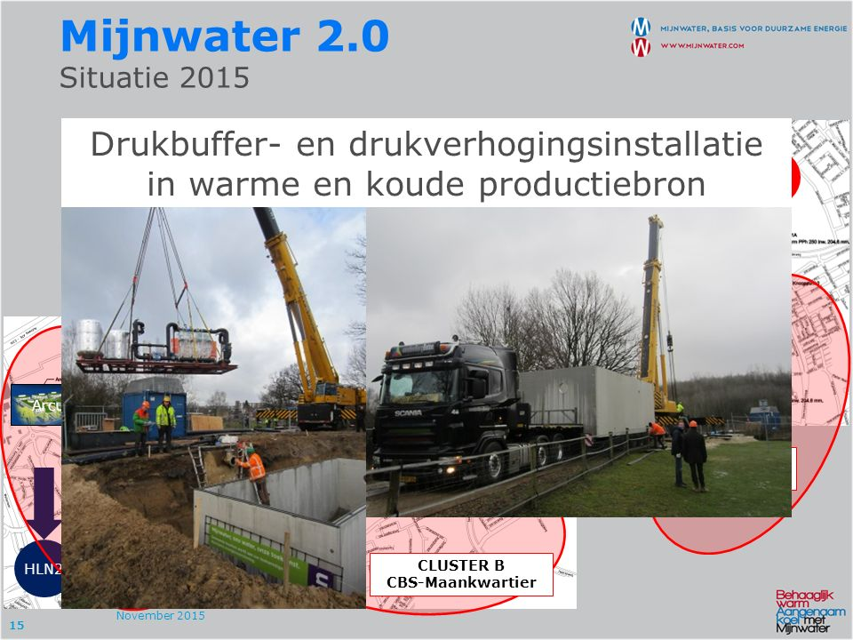 15 CLUSTER C Weller HHC HLN2 HLN1 HLN3 HH1 HH2 Mijnwater 2.0 Situatie 2015 November 2015 CLUSTER A Arcus-APG CBS HHC Arcus APG APG Pension Fund 32.000
