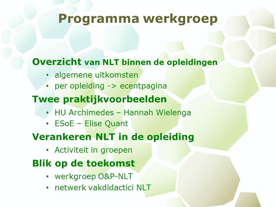 Hoe wordt er in de lerarenopleiding aandacht besteed aan ontwikkeling van NLT competenties.