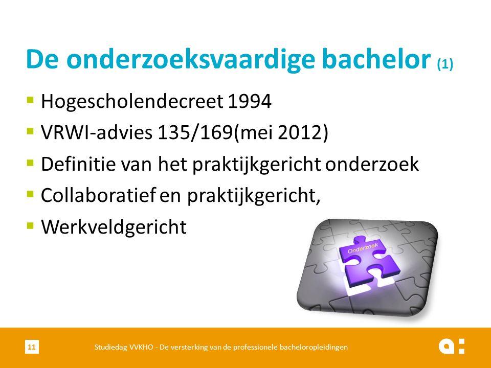  Hogescholendecreet 1994  VRWI-advies 135/169(mei 2012)  Definitie van het praktijkgericht onderzoek  Collaboratief en praktijkgericht,  Werkveld