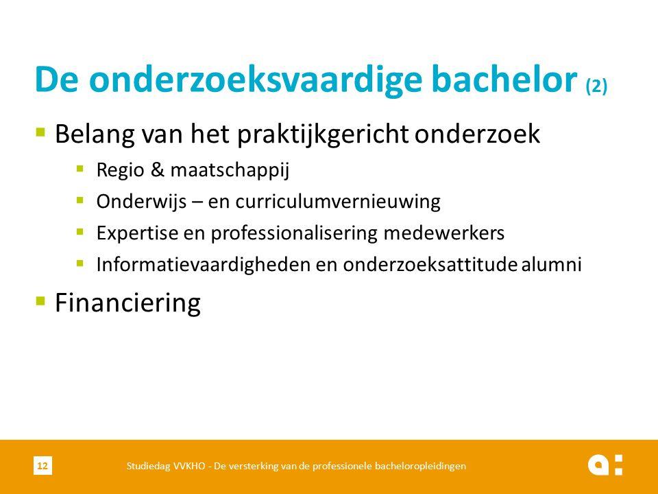  Belang van het praktijkgericht onderzoek  Regio & maatschappij  Onderwijs – en curriculumvernieuwing  Expertise en professionalisering medewerker