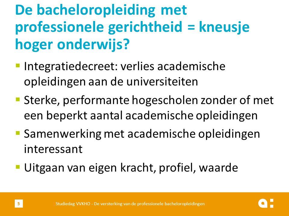 De bacheloropleiding met professionele gerichtheid = kneusje hoger onderwijs?  Integratiedecreet: verlies academische opleidingen aan de universiteit