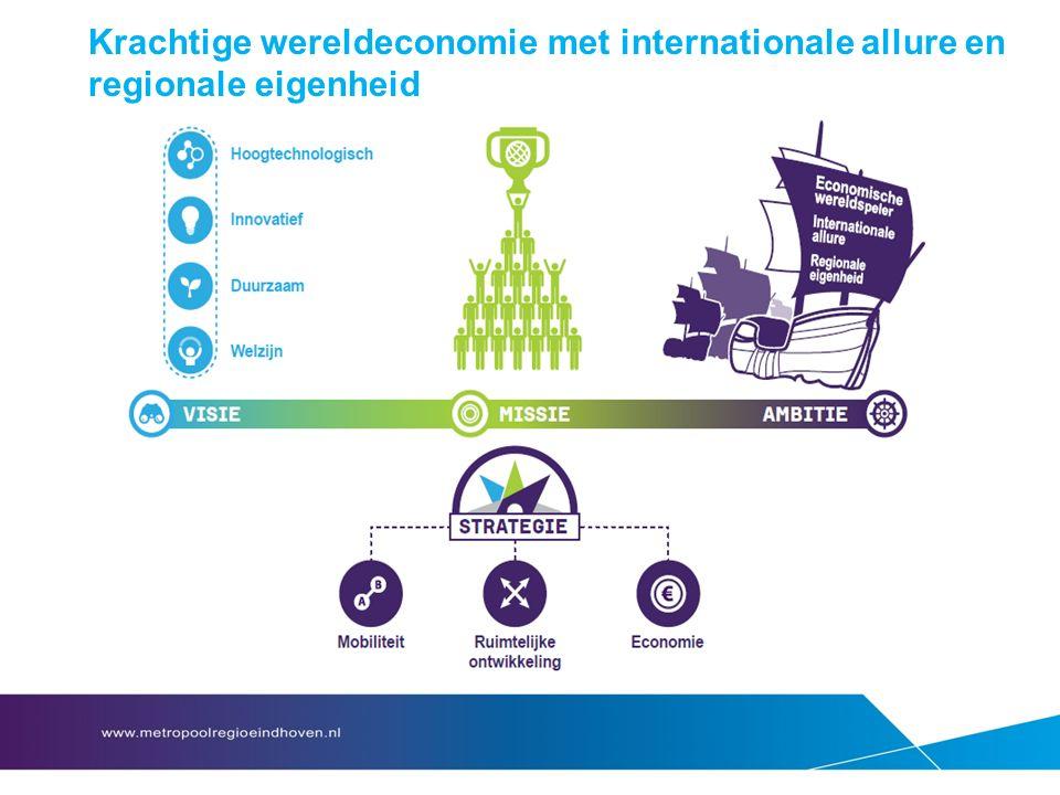 Krachtige wereldeconomie met internationale allure en regionale eigenheid