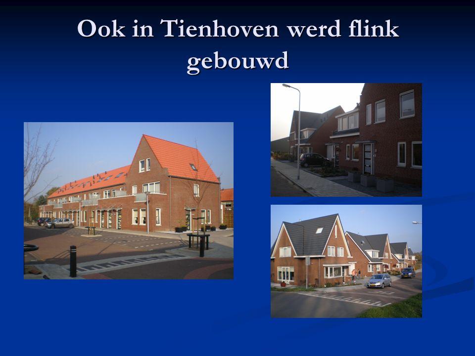 Ook in Tienhoven werd flink gebouwd