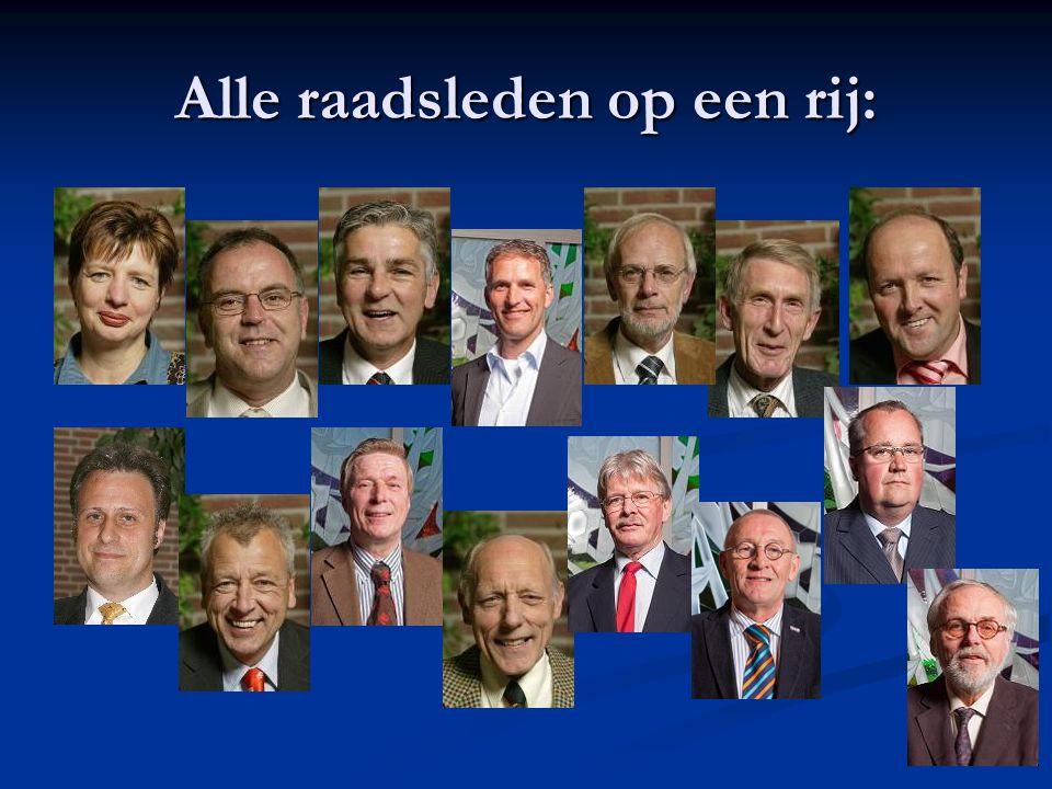 Samenstelling van de Raad De gemeenteraad van Zederik bestaat uit 15 leden.