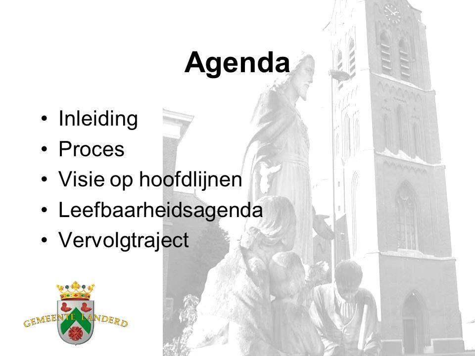 Agenda Inleiding Proces Visie op hoofdlijnen Leefbaarheidsagenda Vervolgtraject