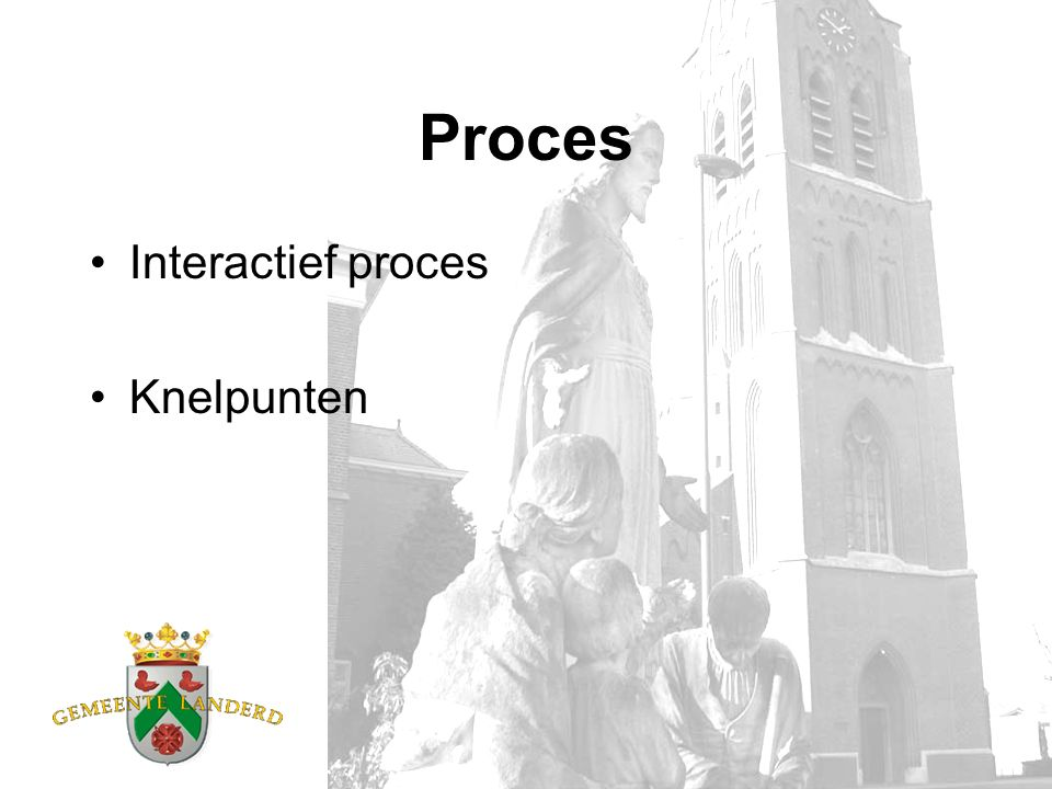Proces Interactief proces Knelpunten