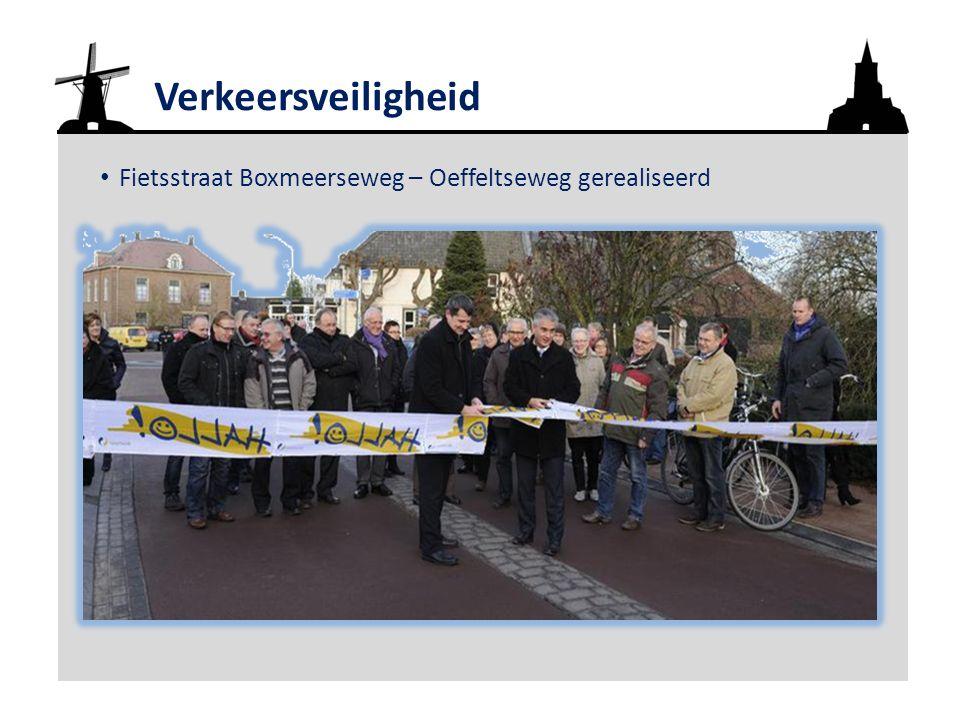 Verkeersveiligheid Fietsstraat Boxmeerseweg – Oeffeltseweg gerealiseerd