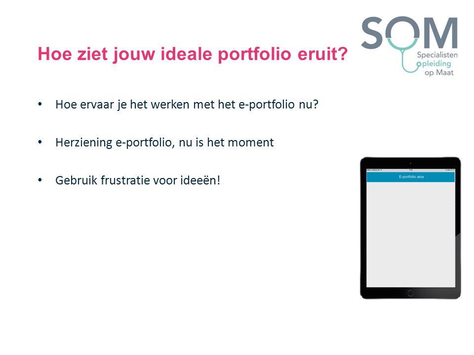 Hoe ervaar je het werken met het e-portfolio nu? Herziening e-portfolio, nu is het moment Gebruik frustratie voor ideeën!