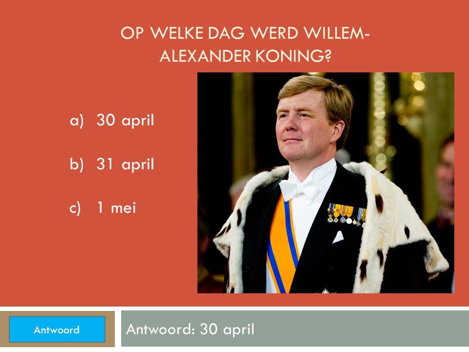 OP WELK PLEIN ZWAAIT DE KONING NAAR HET VOLK? Antwoord: De Dam a)De Grote Markt b) De Dam c)Rembrandtplein Antwoord